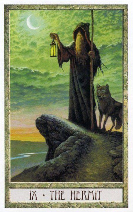 9 The Hermit Tarot Des Druides Philip Stephanie Carr Gomm Art De Carte De Tarot Tarot Carte Tarot
