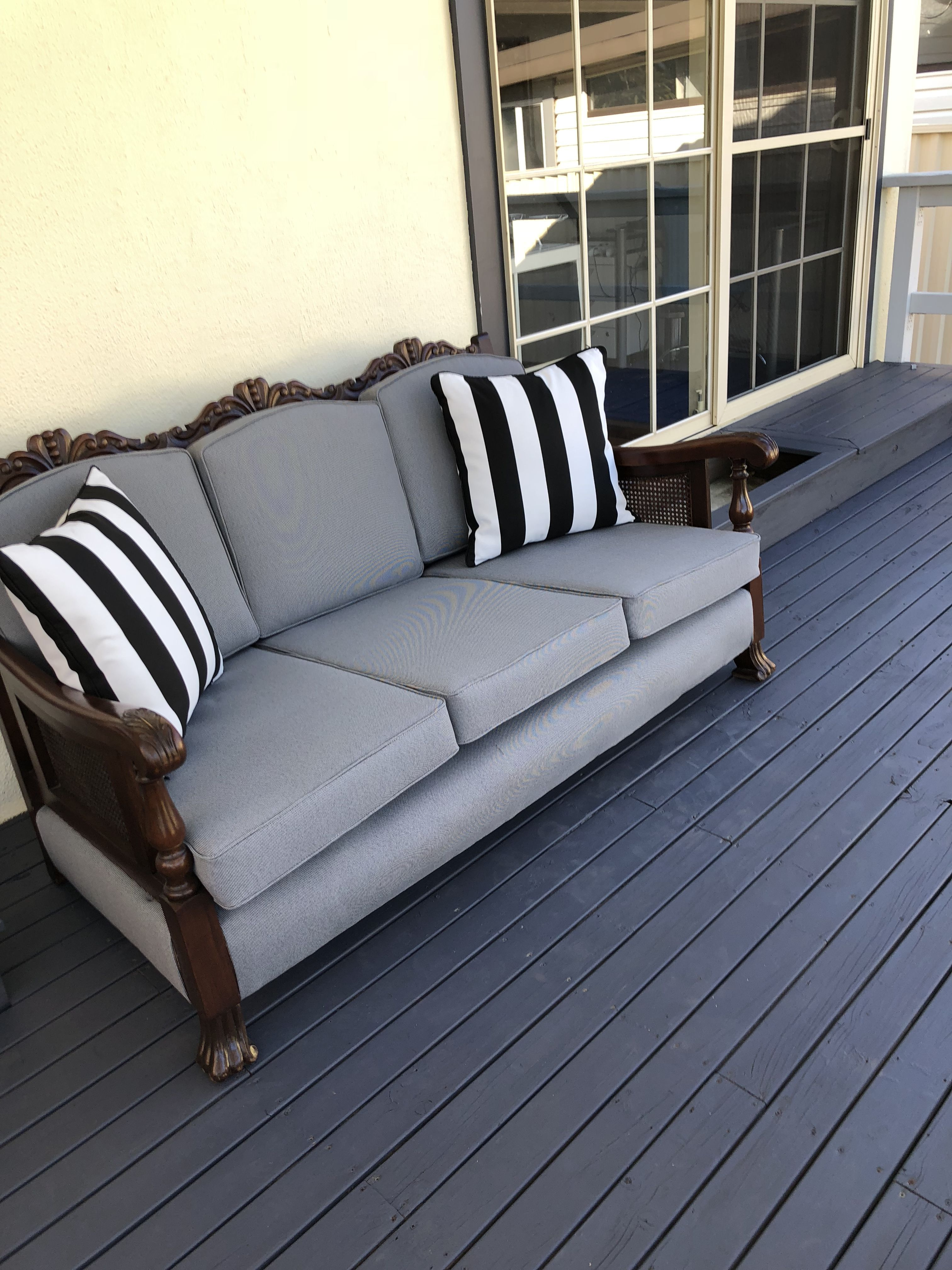 Jacobean Lounge Restored Sofa Makeover Refurnished Furniture Couch Makeover
