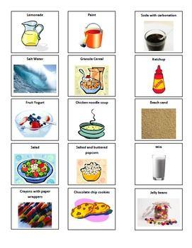 Homogeneous and Heterogeneous Mixtures Card Sorting Activity | TEACH ...