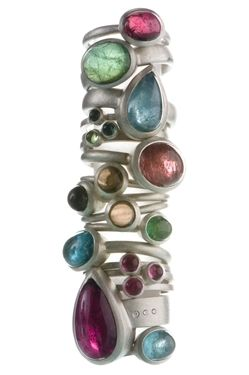 Jewellery by the contemporary jewellery designer NATALIE JANE HARRIS