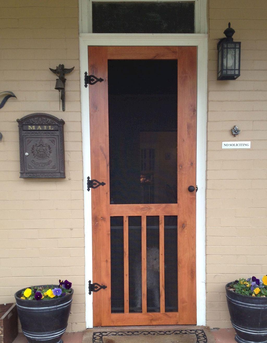 farmhouse wood screen doors