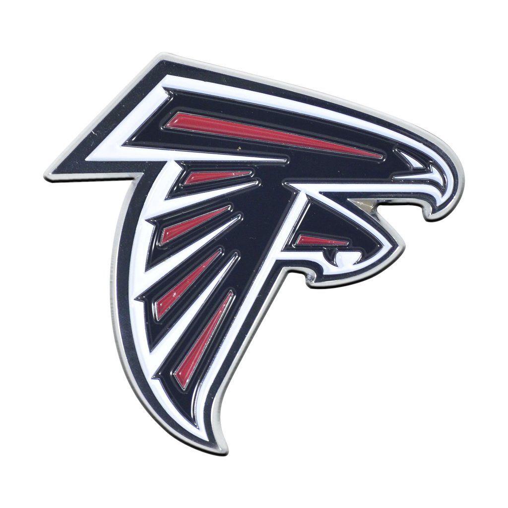 Atlanta Falcons Metal Auto Emblem Color Atlanta Falcons Falcons Nfl