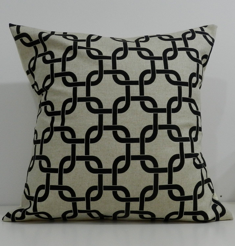 New x inch designer handmade pillow cases black u natural