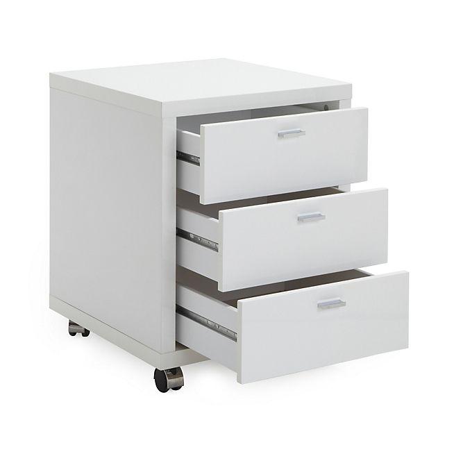 Caisson A Roulettes A 3 Tiroirs H62m Oslo Bureaux Et Rangements Pro Bureaux Filing Cabinet Storage Ikea