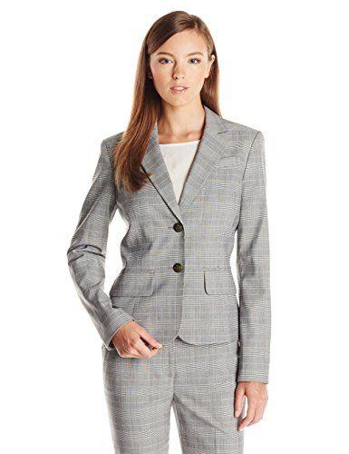 Anne Klein Women S Two Button Glen Plaid Suit Jacket 59 99 Style