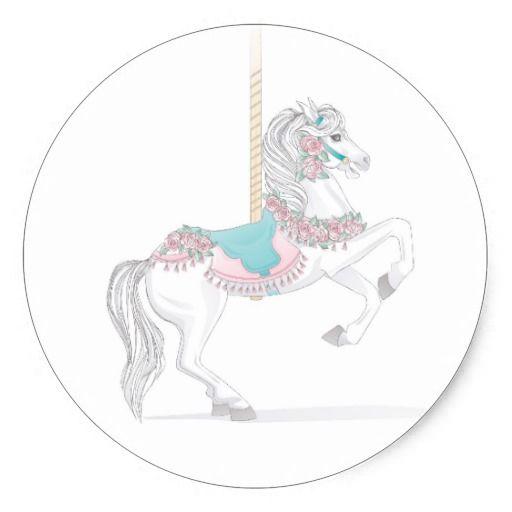 Pretty Carousel Horse Sticker