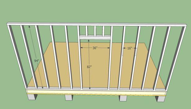 Exterior Framing A Shed Loafing Shed Plans Shed Door Plans Garden Storage  Plans Garden Outbuilding Ideas