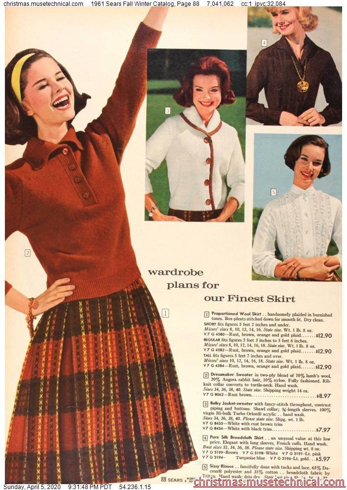1961 Sears Fall Winter Catalog, Page 88 - Christma
