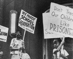 1950's america   Civil rights protesters