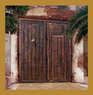 Puerta rustica de madera de roble maciza forja autentica - Puertas rusticas de madera ...
