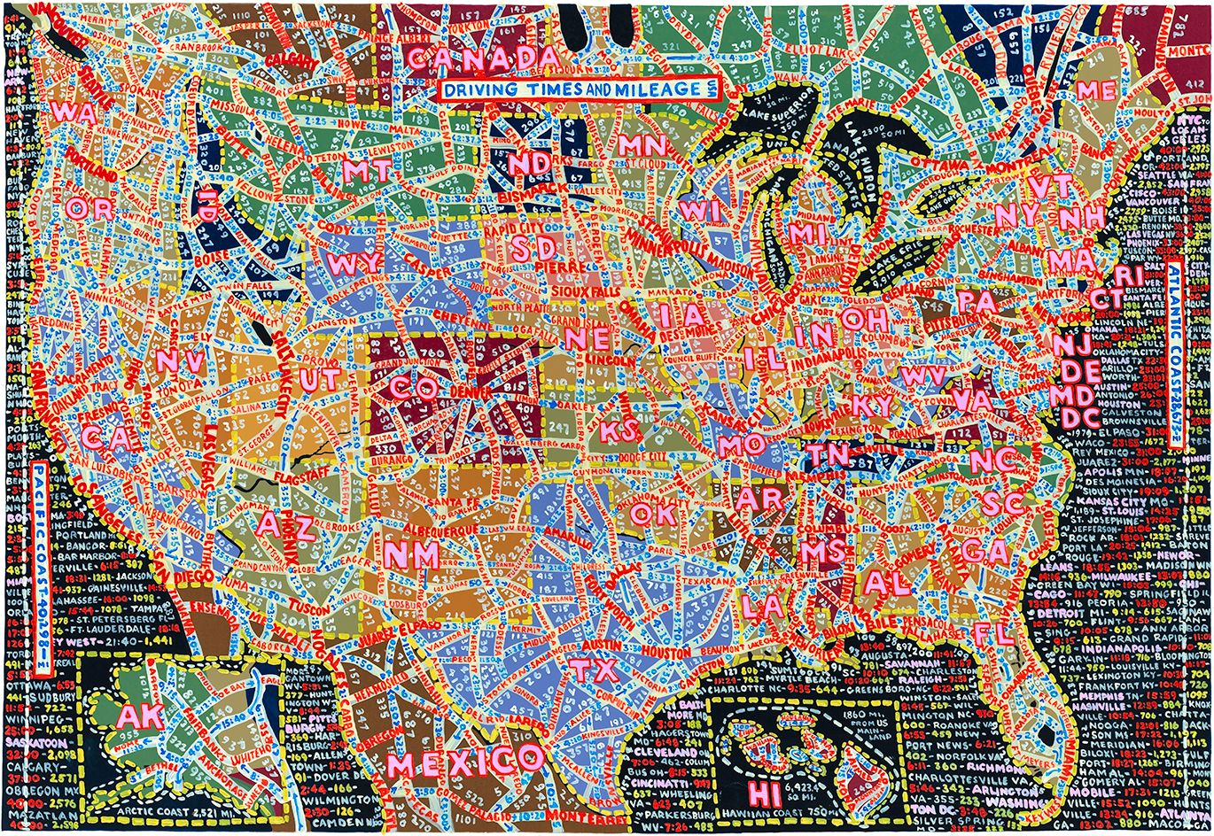 A La Carte Paula Scher S American Maps Chart More Than Just Territory Map Painting Paula Scher Colorful Map