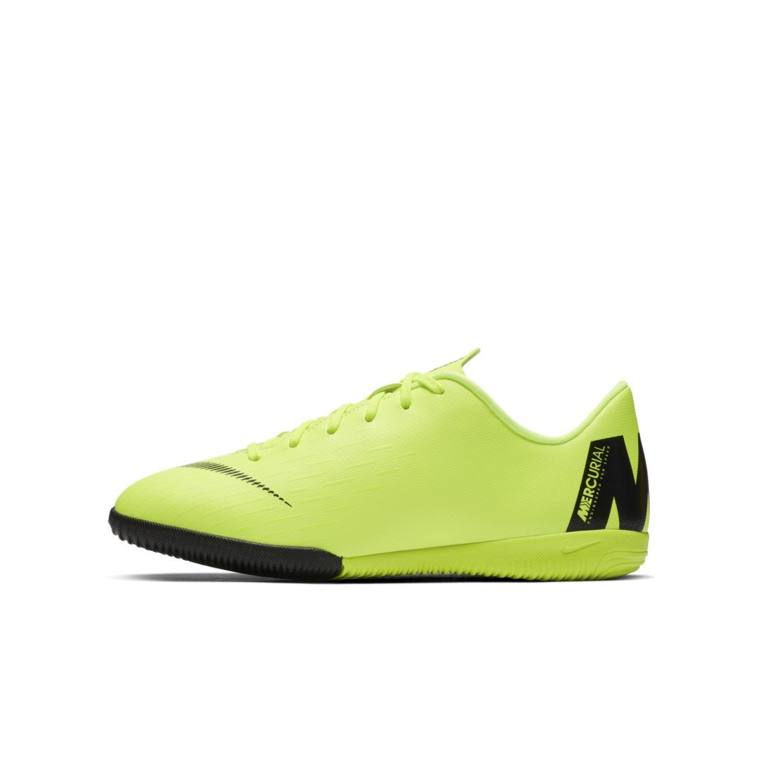 4aff4718b69 Nike Jr. MercurialX Vapor XII Academy Little Big Kids  Indoor Court Soccer  Shoe Size 4.5Y (Volt)