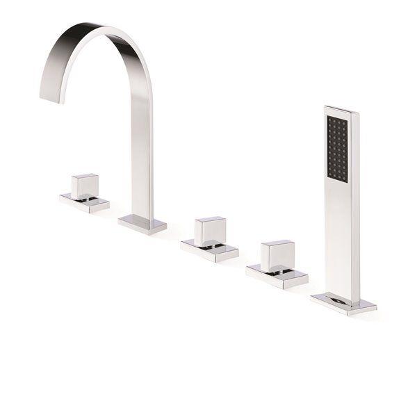 Jade Bath Klara Chrome Deck Mounted Faucet 5 Piece 8505 00 10