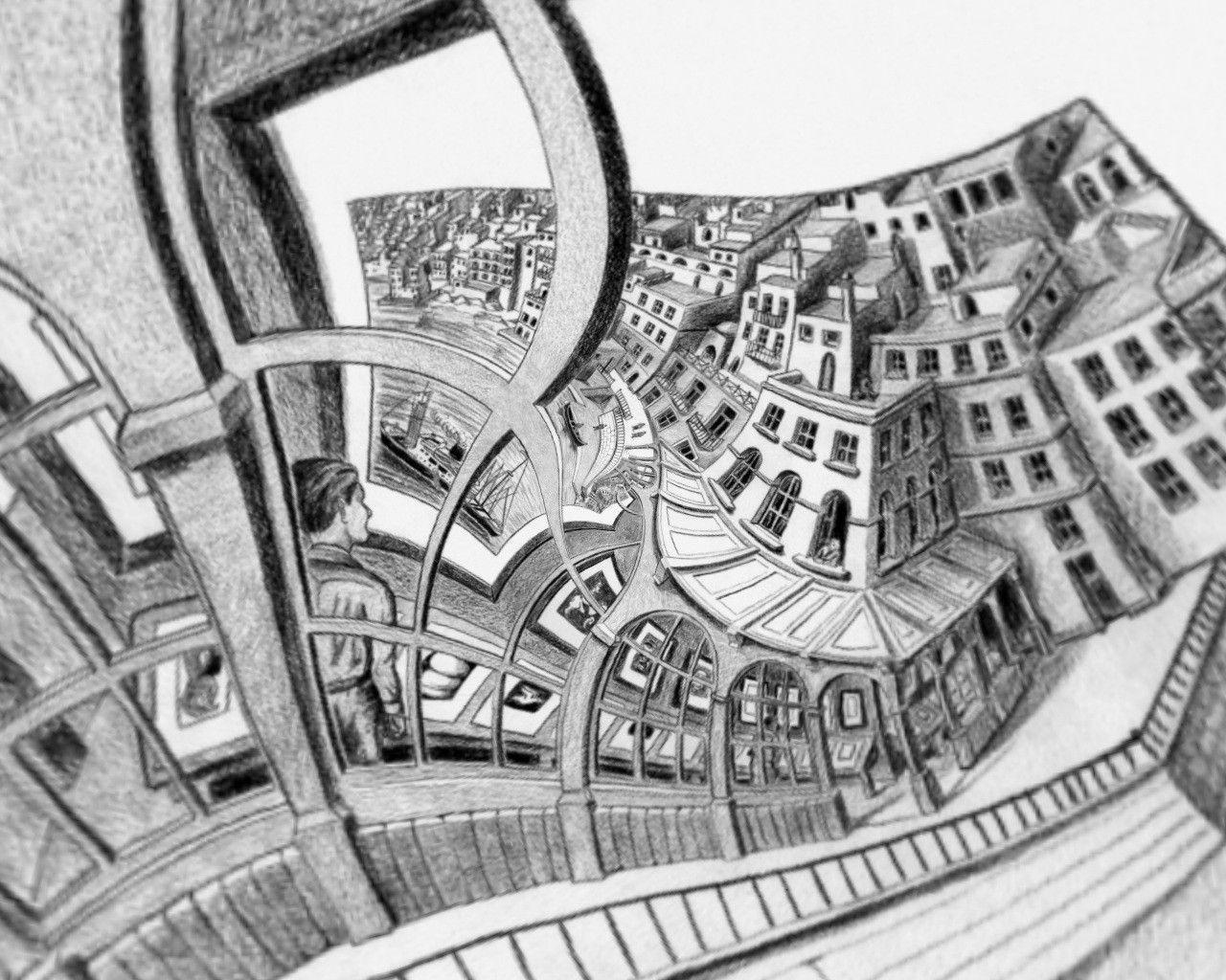 Mc escher wallpaper drawing pinterest mc escher and wallpaper mc escher wallpaper doublecrazyfo Images