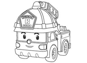 Robocar poli coloriage poli pinterest coloring pages - Coloriage poli ...