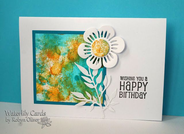 CAS Mix Up August 2017 Entry By Robyn. Waterlily Cards By Robyn: Wishing You