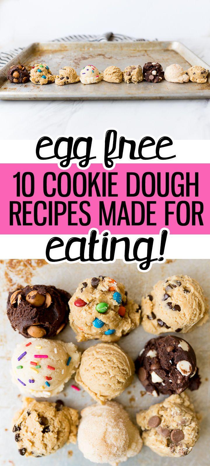 Egg Free Cookie Dough Recipes