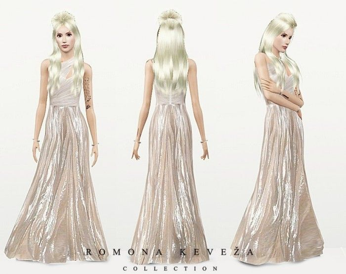 Ramona Kezeva Metallic Champagne Gown by ARTSIMS - Sims 3 Downloads ...