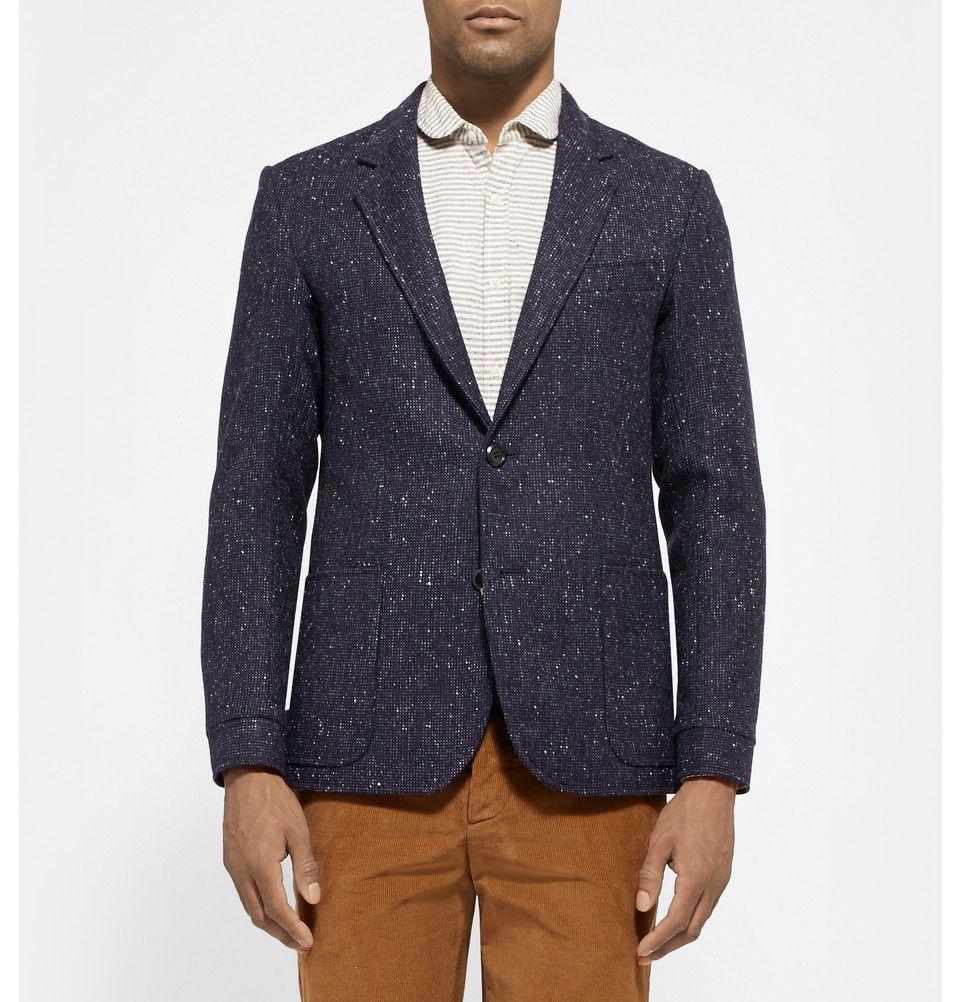 Oliver Spencer - Unstructured Wool-Tweed Blazer|MR PORTER