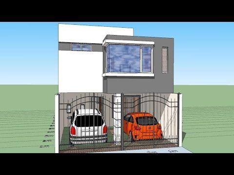 Casa moderna minimalista m x m 220 m for Casa moderna 7x15