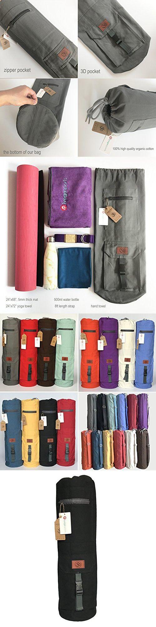 100 Organic Cotton Yoga Bag Diameter 7 X Height 27 5 Black Color Yoga Bag Price Only Yoga Mat Bag Mat Bag Bags