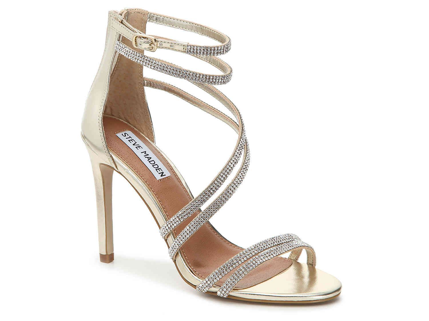 0c55b5c4996 steve madden diamond and gold strappy heel  Promheels