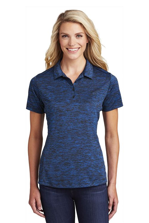 Sport Tek LST590 Ladies PosiCharge Electric Heather Polo from NYFifth