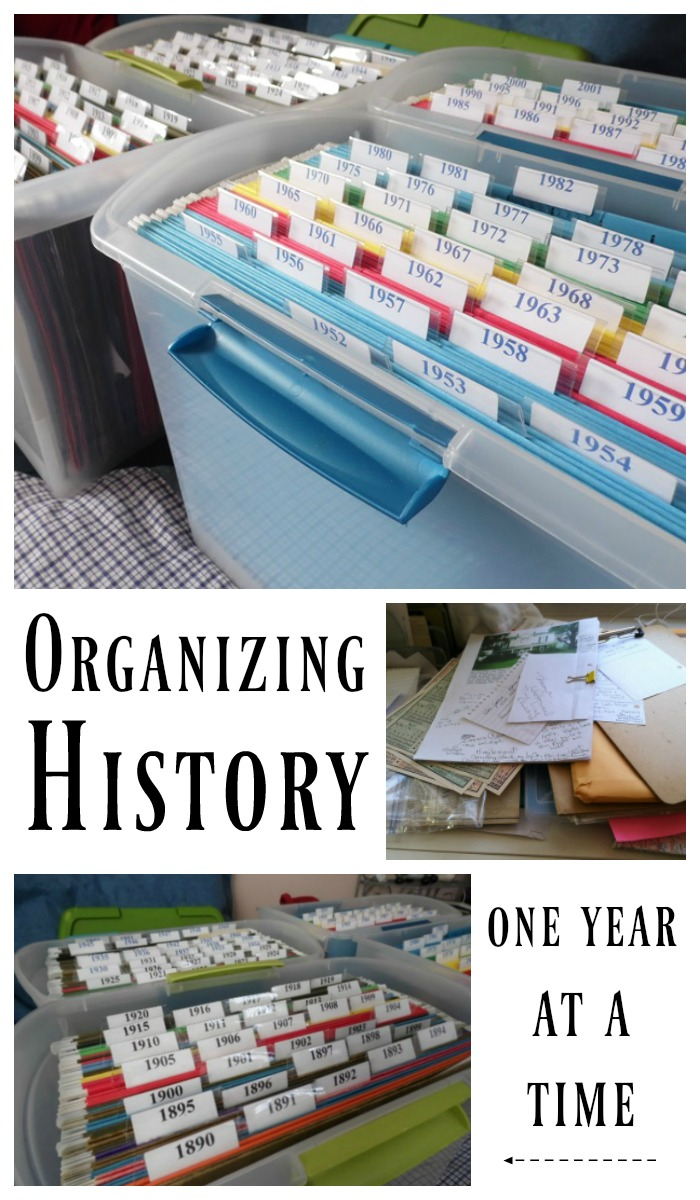 Organizing History One Year at a Time - Hobbies on a Budget