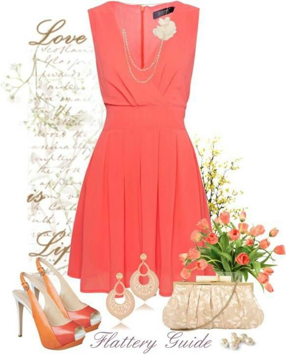 Vestido color salmon | Jw ideas | Pinterest | Fashion