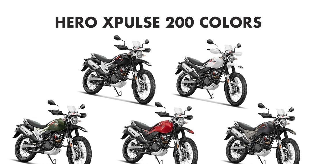 Hero Xpulse 200 Colors Red Black White Green Grey Gaadikey