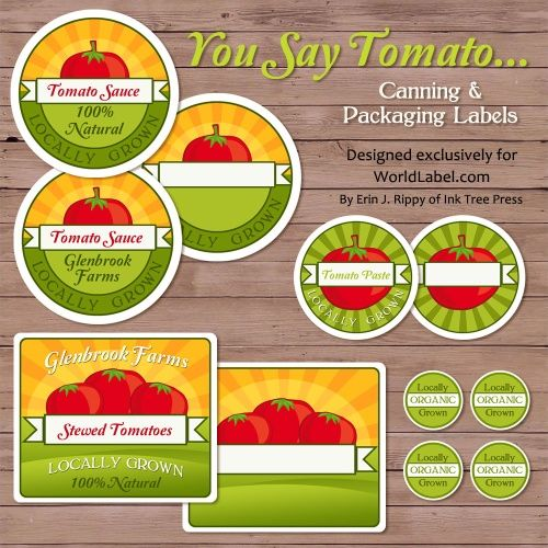 FREE printable TOMATO CANNING labels via World Label This will be - make a free printable flyer