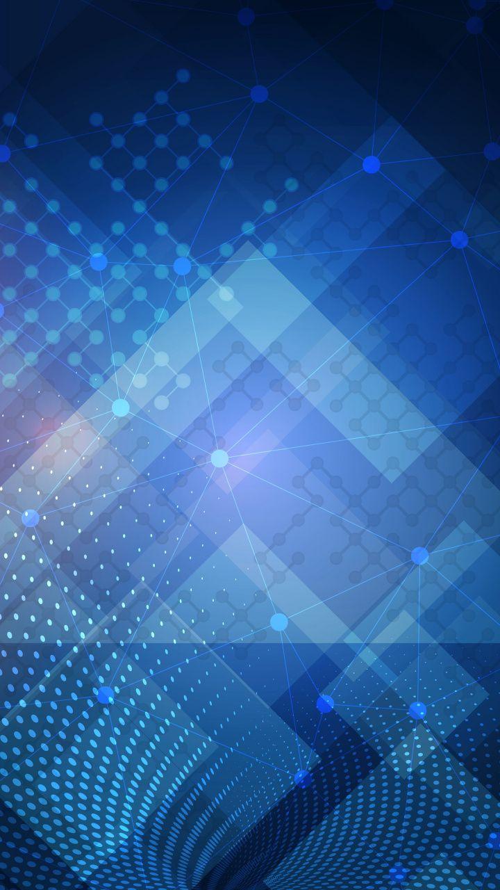 Circuit Digital Art Wallpaper Wallpapers 13785 Connected Dots Geometric 720x1280