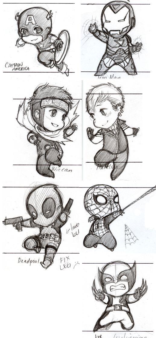 marvel sketches - Dessin Marvel