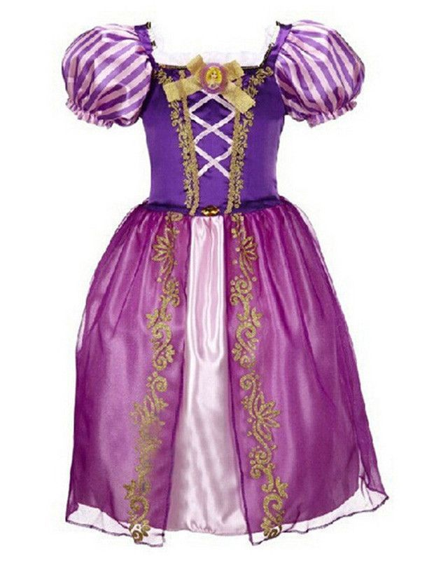 Tangled Rapunzel Little Kids Halloween Costume Girls Gown Fancy Dress