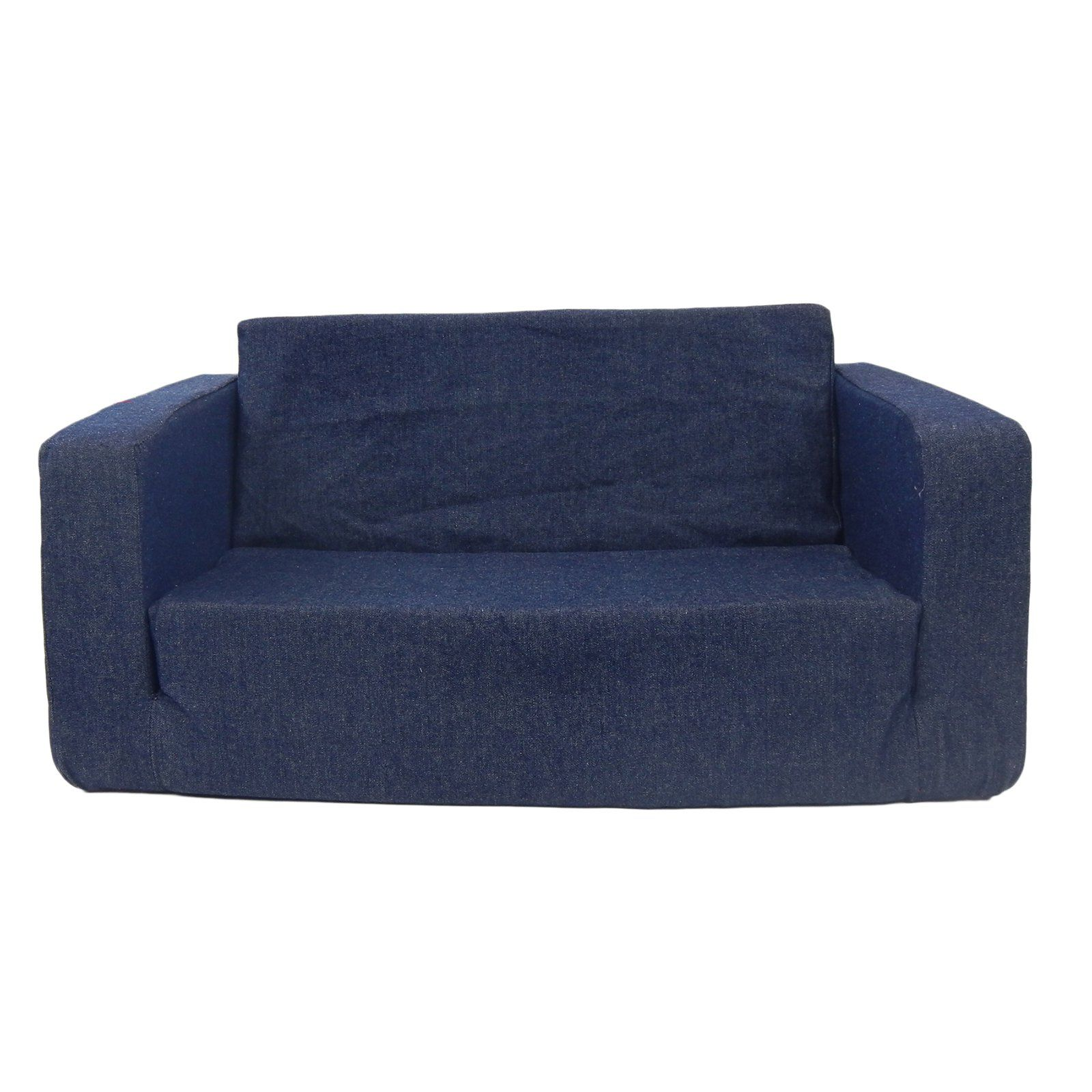 Fun Furnishings Micro Toddler Flip Sofa Denim Kids Sofa Toddler