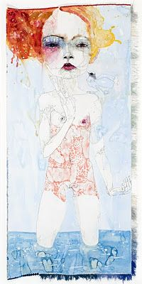Del Kathryn Barton.  It's fantastic when you make a new discovery, this lady is an amazing Australian artist :)