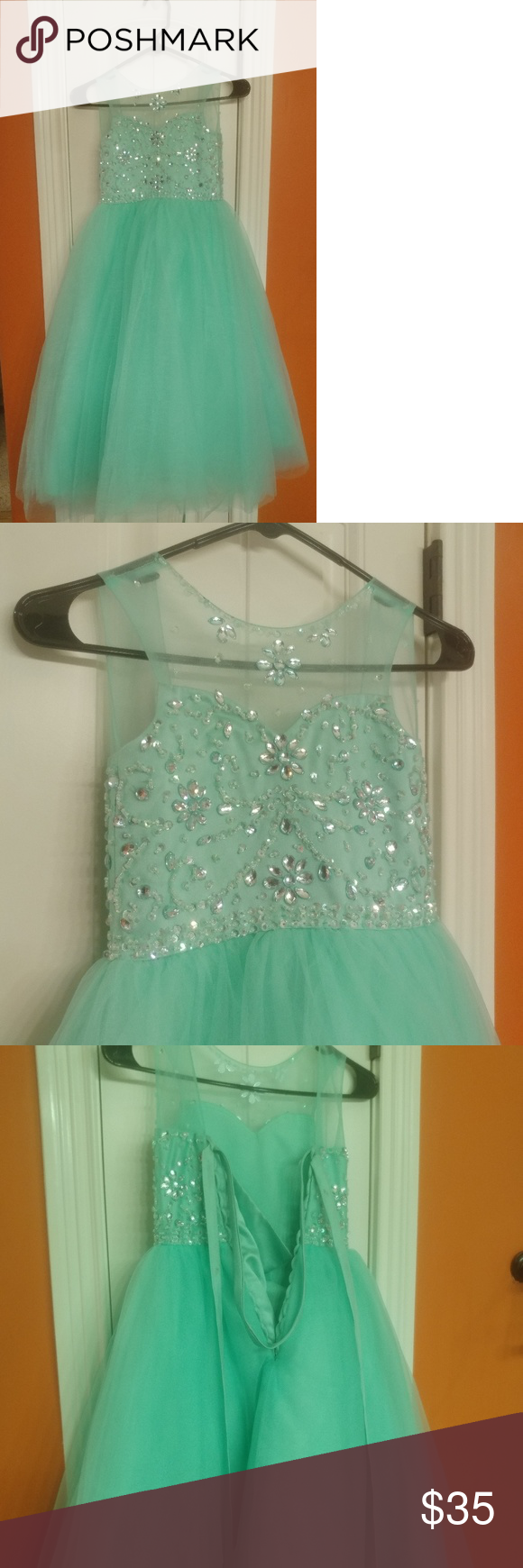 Mint kids ball gown in my posh closet pinterest gowns