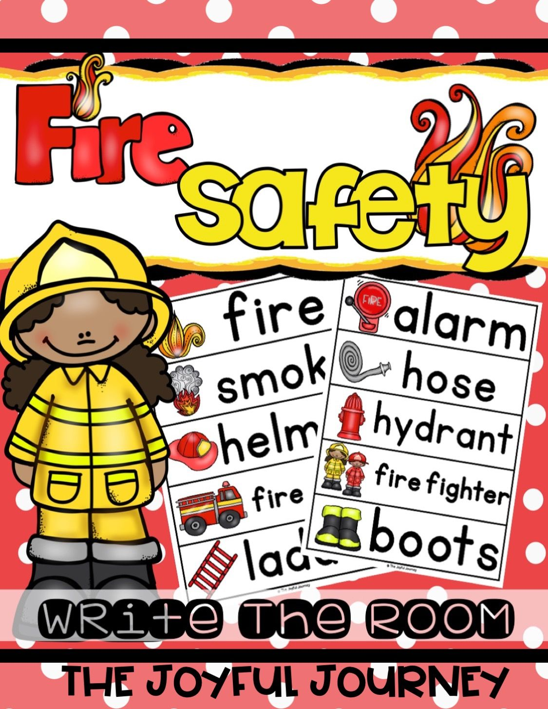 Fire Prevention Safety Week Write The Room Activity