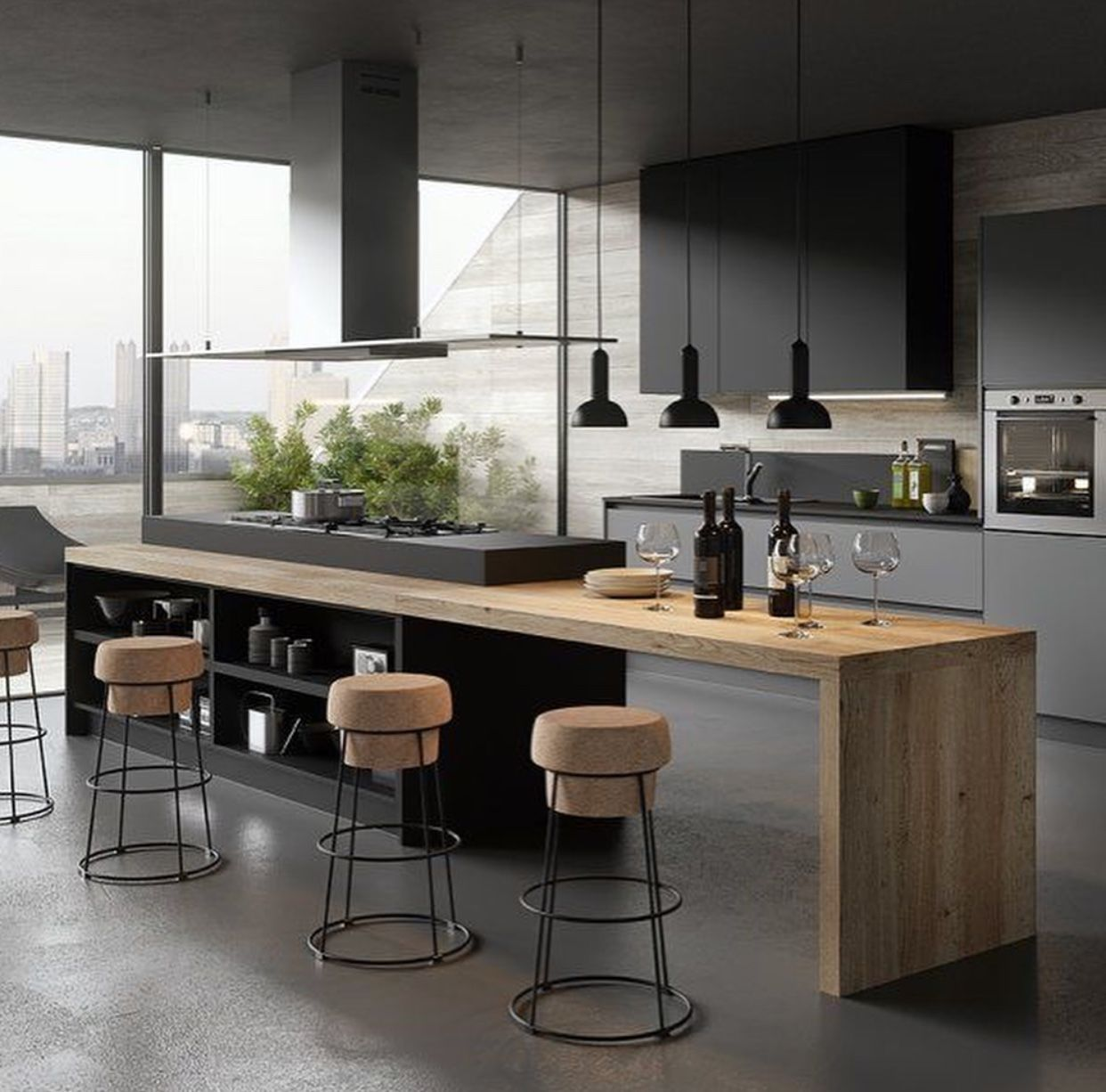 45 Black Kitchen Cabinets Ideas For The Bold Modern Home