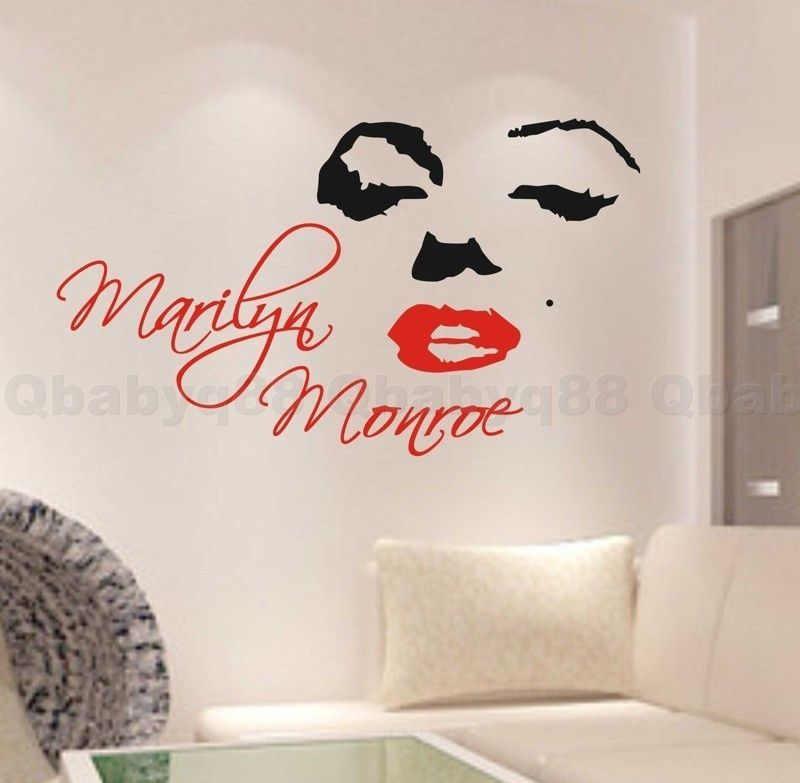 marilyn monroe wall quote decal removable stickers decor vinyl diy