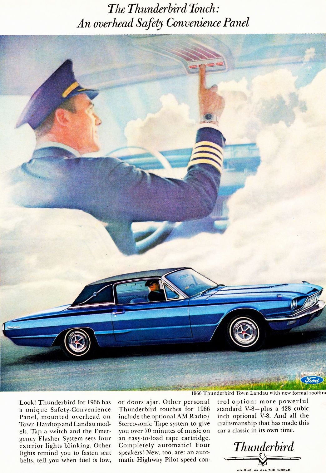 1966 Thunderbird Ad I Hunk This Might Be Why My Dad Got One 1964 Ford Dash Pad