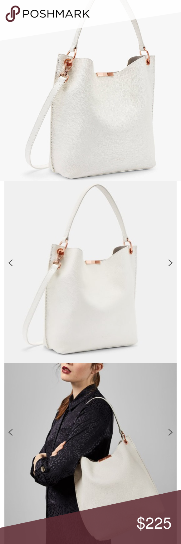 Ted Baker Candiee Soft Grain Leather Hobo Bag Leather Hobo Leather Hobo Bag Hobo Bag