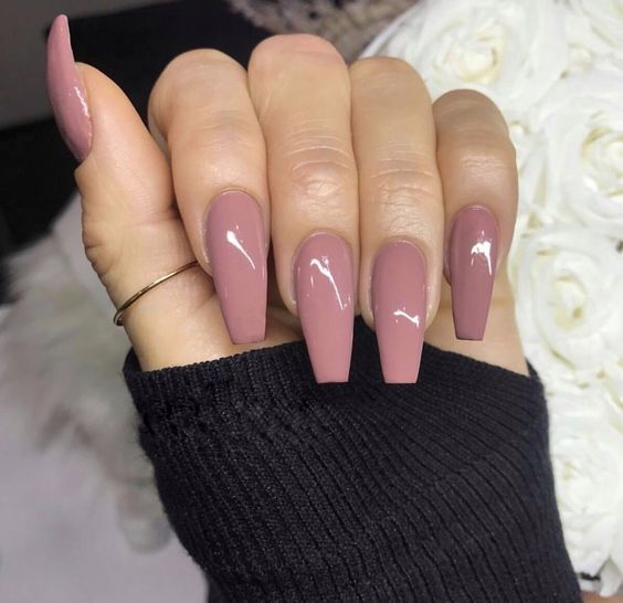 35 Elegant Mauve Color Nail Designs Mauve Nails Cute Acrylic Nails Glam Nails