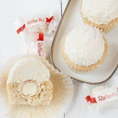 Photo of Raffaello-Cupcakes (Kokos-Mandel-Cupcakes)