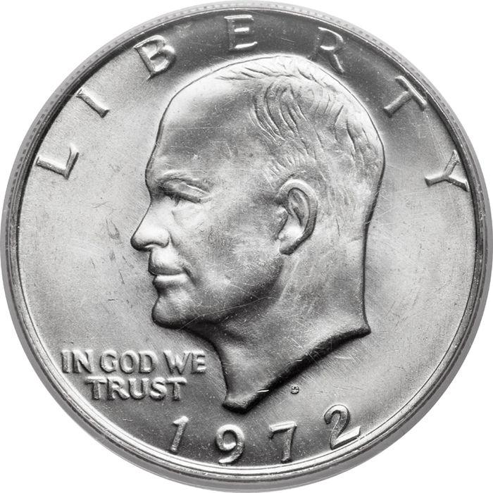 1971 D Ike Dollar Talon Head Upside Down U Jawline Die Clash Silver Coins Silver Coins For Sale Us Silver Coins