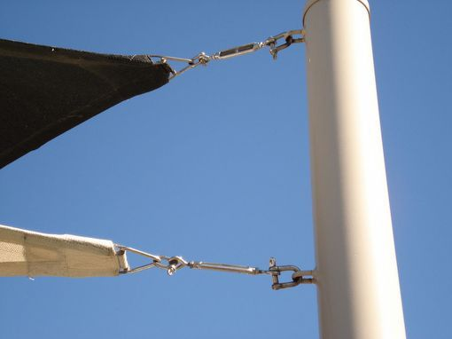 Image Detail For Free Standing Shade Sails Are Supported