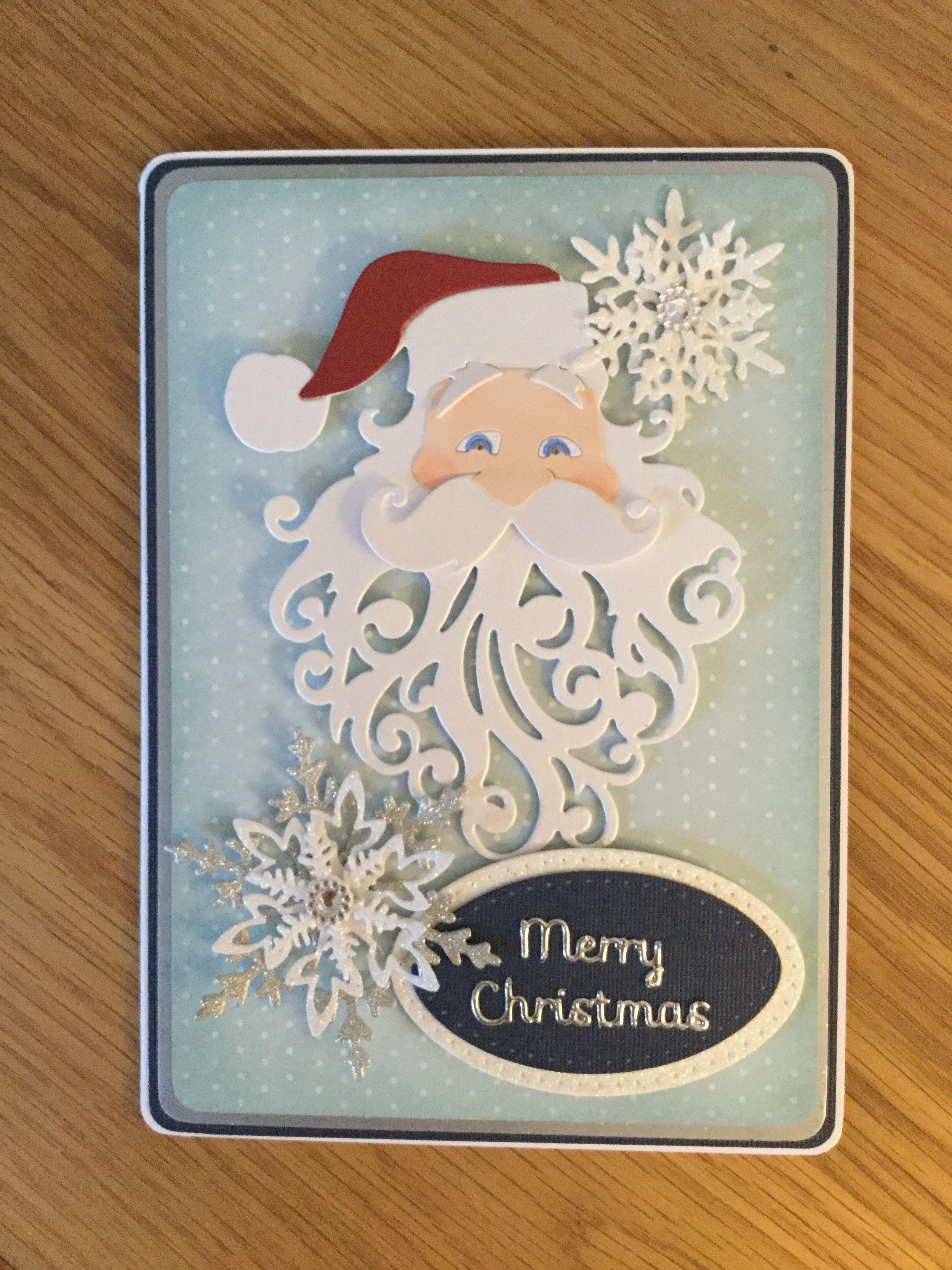 Sizzix Santa Christmas Card Christmas Card Crafts Dyi Christmas Cards Christmas Cards