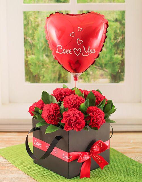Buy Romantic Box of Red Carnations Online - NetFlorist