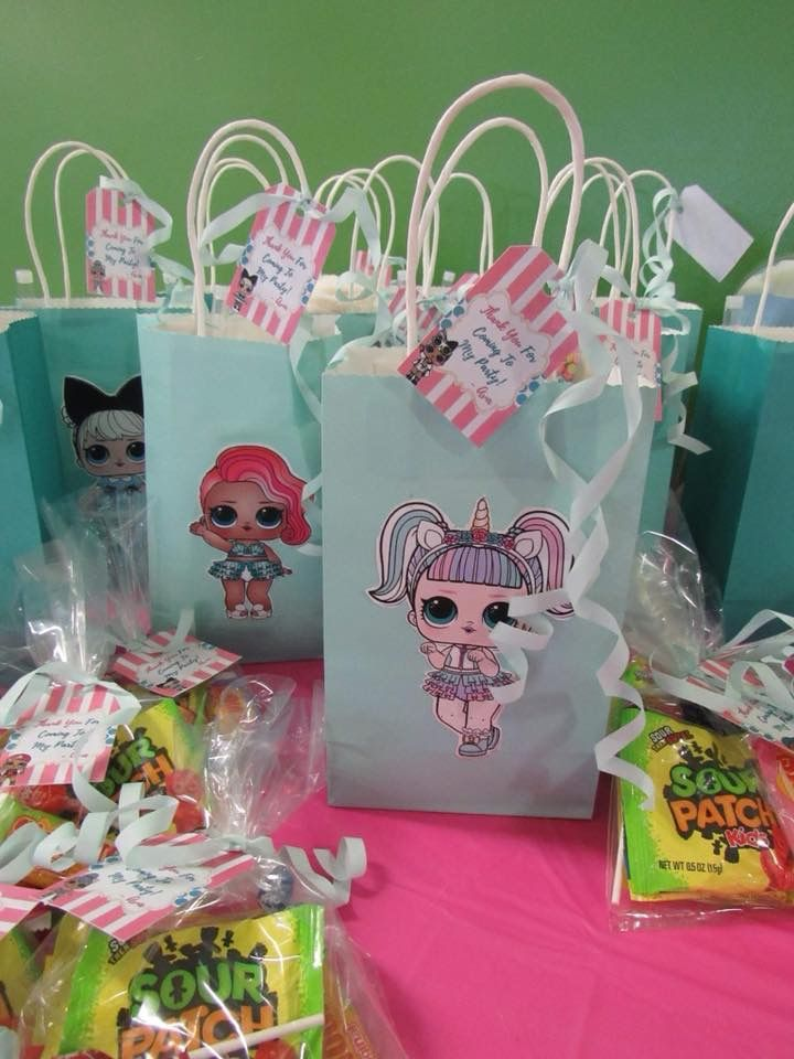 Lol Surprise Dolls Birthday Candy Bags Lol Sweet Six Pinterest