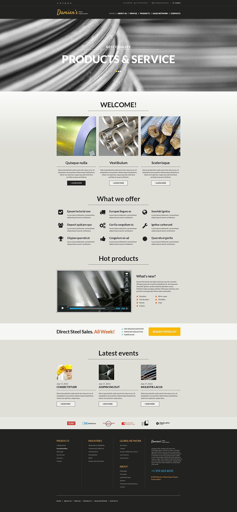 Steelworks Responsive Website Template Design Bundle Website
